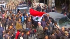 Russian TV shows Syrians celebrating in Douma as rebels withdraw