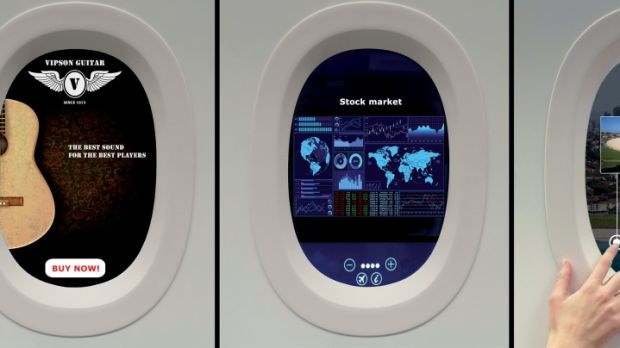 Vision Systems plans to cover plane windows with screens that can be used like computers