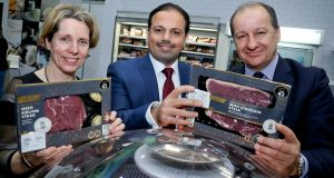 (L-R) Tara McCarthy, Bord Bia chief executive; Jaffar Al Asfoor, BMMI general manager of food retailing and production; and Chris Martin, Musgrave chief executive