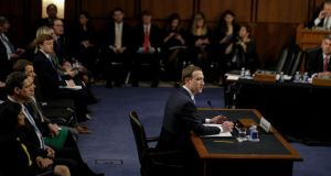 Mark Zuckerberg: Congress had a mixed bag of concerns for Facebook's head this week, including points about the company's privacy and data-collection policies. Photograph: Gabriella Demczuk/New York Times