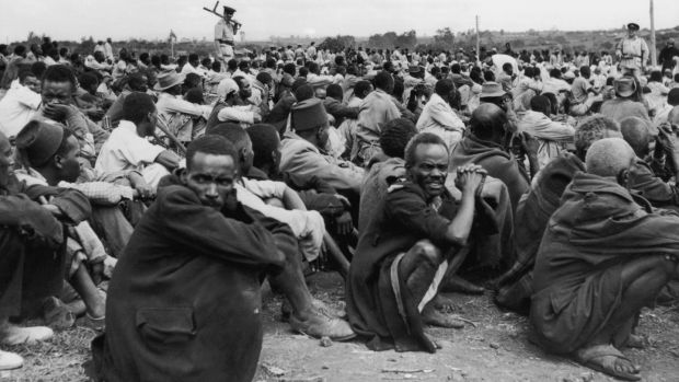 Do the British history books tell of the Mau Mau uprising in Kenya in the 1950s, where the British used concentration camps and subjected inmates to brutal torture and dire conditions that according to some historians killed 100,000 people? Photograph: Keystone/Hulton Archive/Getty Images