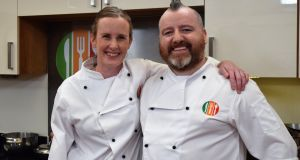 First into the Healthy Appetite test kitchen are chefs Kate Lawlor of The Oyster Tavern in Cork, and Gary O'Hanlon, culinary director at BaxterStorey