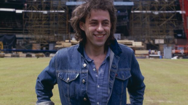 Irish singer and Live Aid organiser Bob Geldof at Wembley Stadium, London, during preparations for the Live Aid concert, 10th July 1985. (Photo by Dave Hogan/Hulton Archive/Getty Images)