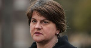 Former Stormont first minister Arlene Foster: was asked  why her then special adviser, Dr Andrew Crawford, had not read expert reports related to RHI options and why Fiona Hepper had not endeavoured to record notes of the encounter.  Photograph: Yui Mok/PA