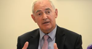 Institute of Obstetricians and Gynaecologists chair Dr Peter Boylan said the 50-60 members present discussed what they would do in the event of the amendment's repeal. Photograph: Dara Mac Dónaill