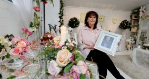 Marie Maher, whose husband Eugene was killed  in a hit and run,  at her  bridal florist shop in Drumcondra. Photograph: Alan Betson / The Irish Times