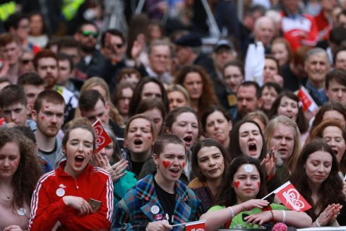 LANGUAGE RIGHTS: Thousands of people attended an Irish language street festival in Dublin city centre at the weekend, coming from all over the country for the 'Beo' (Alive) event. Photograph: Nick Bradshaw