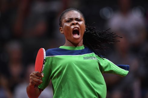TOUGH AT THE TOP: Faith Obazuaye of Nigeria competes against Melissa Tapper of Australia during the Women's TT6-10 Singles gold medal table tennis match during the Gold Coast 2018 Commonwealth Games at Oxenford Studios in Gold Coast, Australia.  Photograph: Matt Roberts/Getty Images