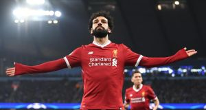 Mo Salah: the season's outstanding player. Photograph: Laurence Griffiths/Getty