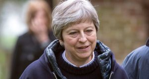 British prime minister Theresa May: will tell MPs she took the air strike action to alleviate further humanitarian suffering in Syria caused by chemical weapons attacks and that it was in Britain's national interest to do so.   Photograph:  Steve Parsons/PA
