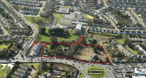 The 3.74-acre site for apartment development on Church Road, Killiney, Co Dublin