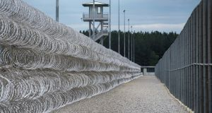 Razor wire protects a perimeter of the Lee Correctional Institution in Bishopville, South Carolina. File photograph:  Sean Rayford/AP