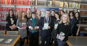 The launch of The Long Gaze Back as Dublin One City One Book, with Elizabeth Reapy and Roisín O'Donnell, second and third left