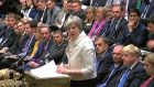 Britain's prime minister Theresa May making a statement in the House of Commons defending British participation in air strikes on Syria. Photograph: AFP/PRU/Getty Images