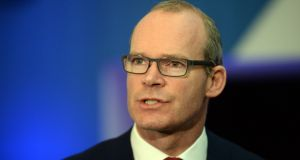 "Tánaiste Simon Coveney:  ""We are putting down a marker which says that if there isn't significant progress towards trying to find a wording that puts in place an operational backstop in the withdrawal treaty, well then we'll have to ask some very serious questions...""  Photograph: Cyril Byrne"