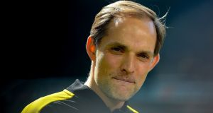 Thomas Tuchel is in pole position to become Paris Saint-Germain's new manager next season. Photograph: Sascha Schuermann/AFP