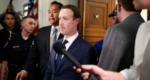 Mark Zuckerberg, Facebook's chief executive after testifying on Capitol Hill in Washington last week. A US federal judge has ruled the firm must face a class action lawsuit over facial recognition use