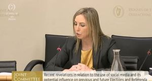 Data Protection Commissioner Helen Dixon gives evidence before an Oireachtas committee on Tuesday.