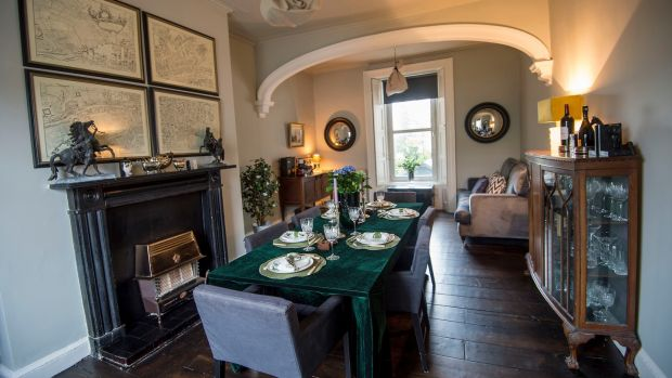 "The dining room in Cosgrove's home where phones are put away and all can ""talk properly"". Photograph: Brenda Fitzsimons/The Irish Times"