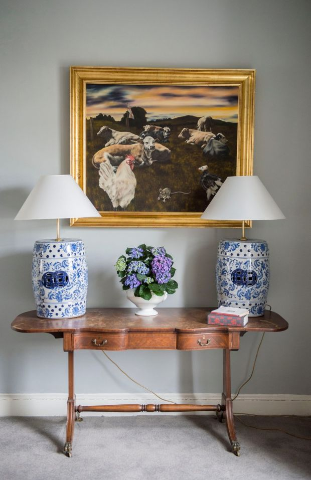 Table for two in the Cosgrove home. Photograph: Brenda Fitzsimons/The Irish Times