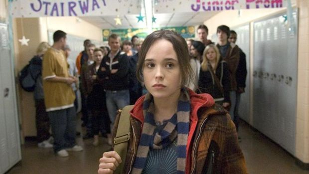"Ellen Page in Juno: ""I feel incredibly fortunate for what I have. I get to do something I love and to receive what I receive for it. What I do gives me a platform."" Photograph: Alex Bailey/Fox Searchlight/Getty Images"