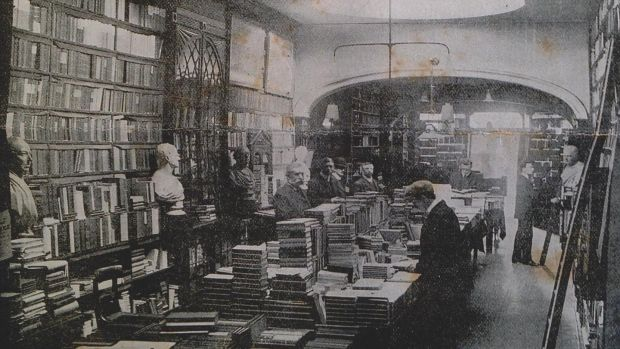 The interior of the bookshop