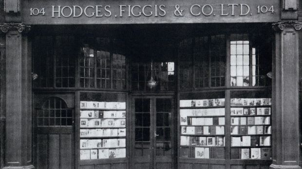The Hodges Figgis shopfront at 104 Grafton Street circa 1900