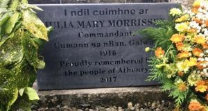 Last November a headstone was finally placed on Julia Morrissey's grave in Athenry