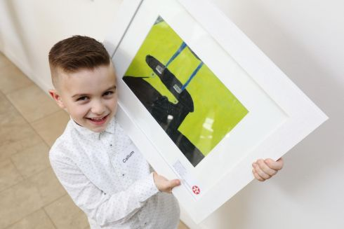 CALLUM LEONARD: First prize winner of €150 in Category F  (6 years and younger) was awarded to 6-year-old Callum Leonard, a pupil at Bunscoil Loreto in Gorey, Co Wexford, for his study entitled Boy On Skateboard. Photograph: Mac Innes Photography
