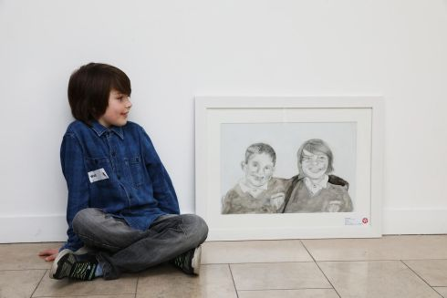 WALT RUSSELL: Walt Russell (8), from Scoil Ide, Raheny, has won second prize (€150) in Category E  (7-8 years) for a work entitled The Lads. Photograph: Mac Innes Photography
