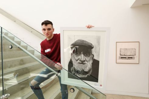 JACK McGRATH: Jack McGrath (16), a pupil at Colaiste Muire, Ballymote, Co Sligo, has won third prize (€750) in Category A for his piece entitled Wisdom. Photograph: Mac Innes Photography