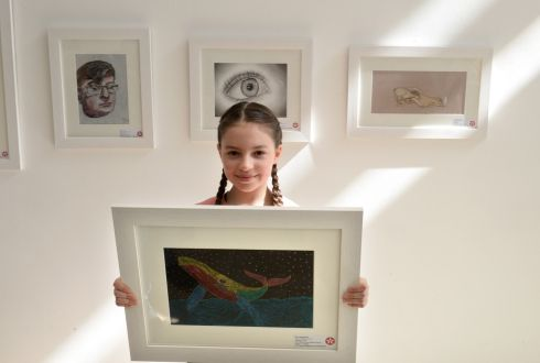SARA JAGODZINSKA: Third prize (€150) went to Sara Jagodzinska (9), from Scoil Mhuire Girls National School, Lucan, Co Dublin, in her category for her entry entitled Midnight Swim! Photograph: Dara Mac Donaill/The Irish Times