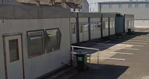 St Paul's Secondary School, Monasterevin, Co Kildare, was damaged by an explosion in 2000 and subsequently provided with replacement prefab units. Photograph: Google Street View