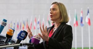 "EU high commissioner for foreign affairs Federica Mogherini: ""The western Balkans countries are European, and will be part of the European Union."" Photograph: Virginia Mayo/AP"