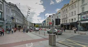 According to figures from Cork City Council's Traffic Division, 10,900 vehicles a day use Patrick St. Photograph: Google