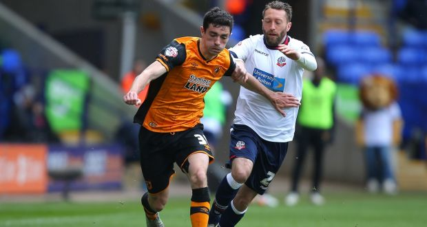 953602548 Brian Lenihan in action for Hull City in April 2016. Photograph: Dave  Thompson/
