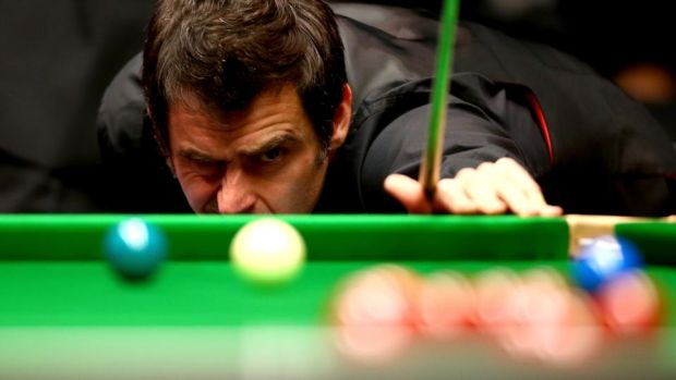 Snooker loopy: Ronnie O'Sullivan at the 2015 Masters. Photograph: Jordan Mansfield/Getty