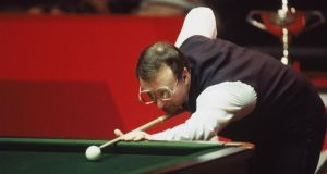 Snooker loopy: nice, upside-down-spectacled Dennis Taylor, defeating sly, soulless Steve Davis in 1985. Photograph: Adrian Murrell/Allsport/Getty