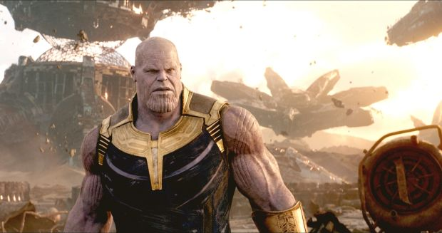 Avenger: Infinity War's CG villain, Thanos (Josh Brolin) has inspired hundreds of comic memes due to his Homer Simpson-esque appearance. Photograph: Marvel Studios