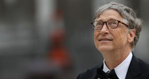 A bow-tied Bill Gates arrives at a London business banquet, all in the name of his foundation's bid to eradicate malaria. Photograph: Simon Dawson/Reuters