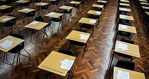 A total of 16 Leaving Cert students will be obliged to sit their politics exam in a special evening sitting. File photograph: The Irish Times