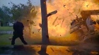 Dashcam captures narrow escape as Texas house explodes