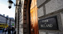 The Bank of Ireland: dozens and dozens of the bank's customers are complaining of the lag between transactions happening and their balances updating. Photograph: Frantzesco Kangaris/Bloomberg