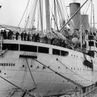 The HMT Empire Windrush brought migrants from the Caribbean to Britain in what became a wave of postwar immigration from commonwealth countries. Photograph: Douglas Miller/Keystone/Getty Images