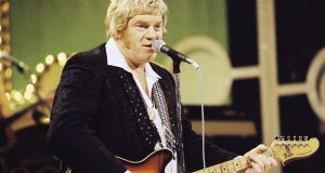 Keeping it country: Big Tom on stage at Cork Opera House (1981).