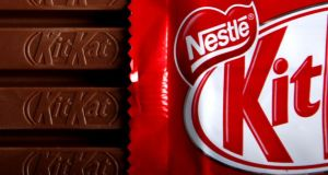 KitKat: Nestlé has failed to show the bar's shape is well known in Ireland. Photograph: Jason Adlen/Bloomberg