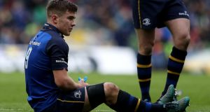 Leinster's Luke McGrath is expected to miss the Champions Cup semi-final against Scarlets due to a knee injury. Photograph: Tommy Dickson/Inpho