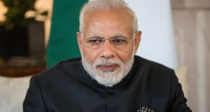 India's prime minister Narendra Modi: he has said that plastic surgery, genetic science and stem cell study existed thousands of years ago in ancient India. Photograph: Simon Dawson/EPA