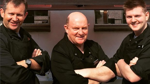 Tim Greenwood, Cormac Murphy and Jack O'Keeffe, barbecue tutors at Cooks Academy in Dublin