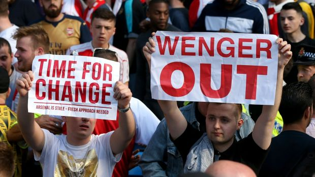 Ill-feeling emerged to the latter end of Wenger's 22-year reign. Photograph: Martin Rickett/PA